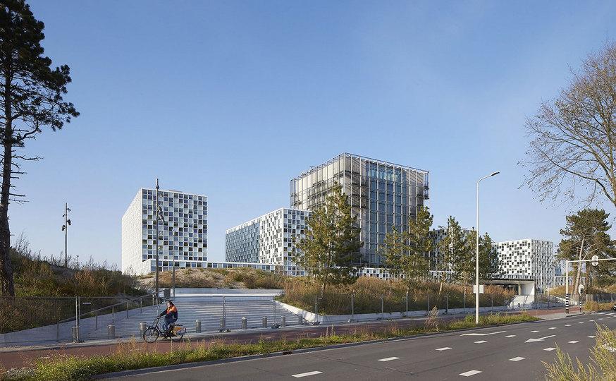 Sediul Curţii Penale Internaţionale din Haga, Olanda.