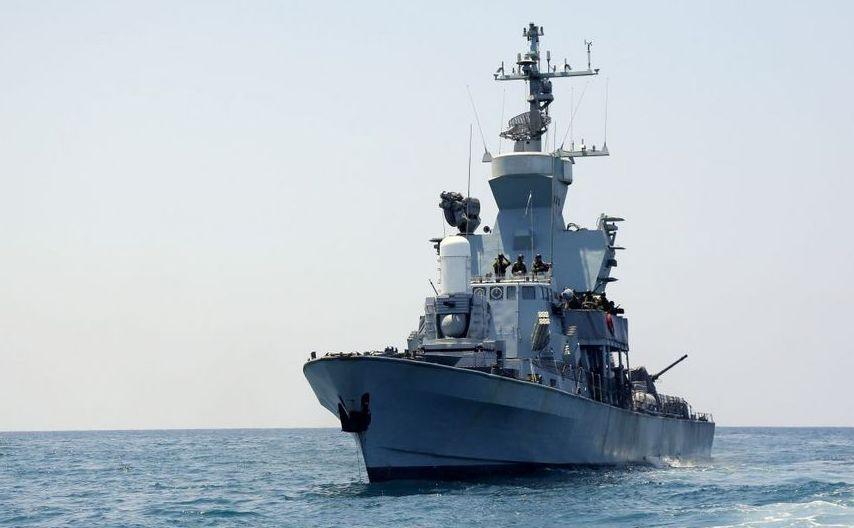 Navă de luptă israeliană în largul coastei Fâşiei Gaza, în timpul operaţiunii Protective Erdge, 28 iulie 2018.