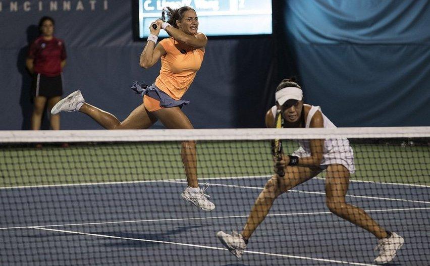 Perechea alcătuită din jucătoarea română de tenis  Monica Niculescu şi americanca Vania King.