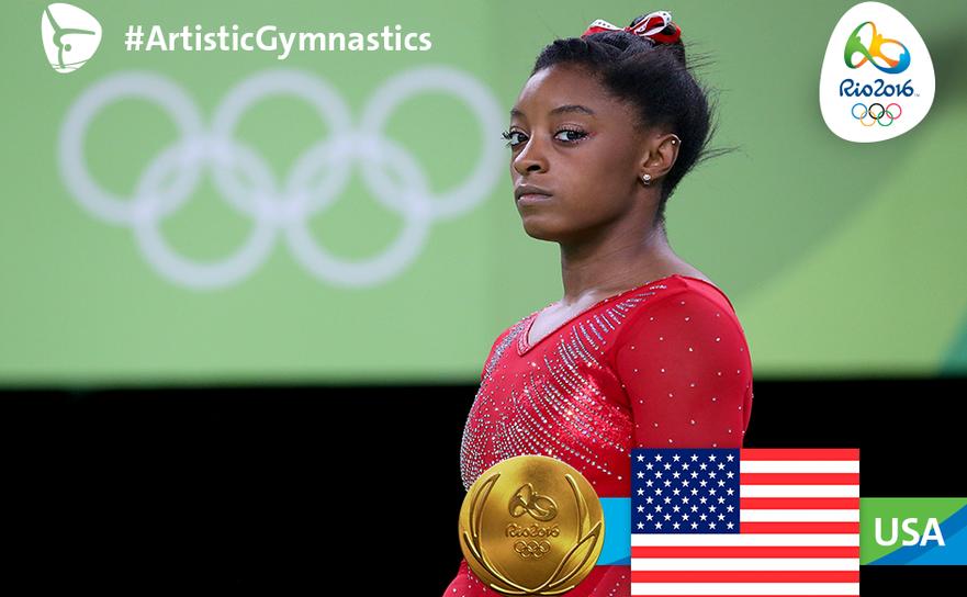 Gimnasta americană Simone Biles.