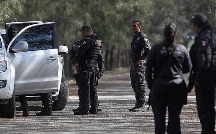 Poliţişti în statul mexican Michoacan.