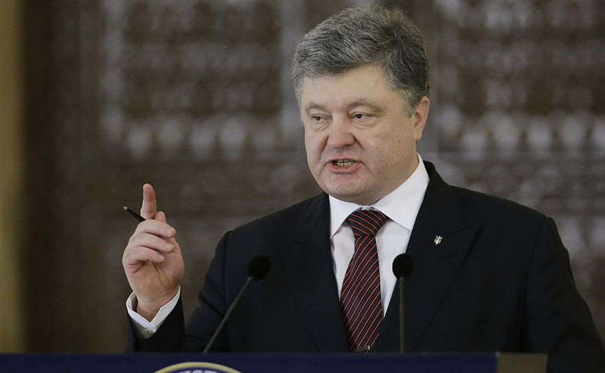 Preşedintele ucrainean Petro Poroşenko.