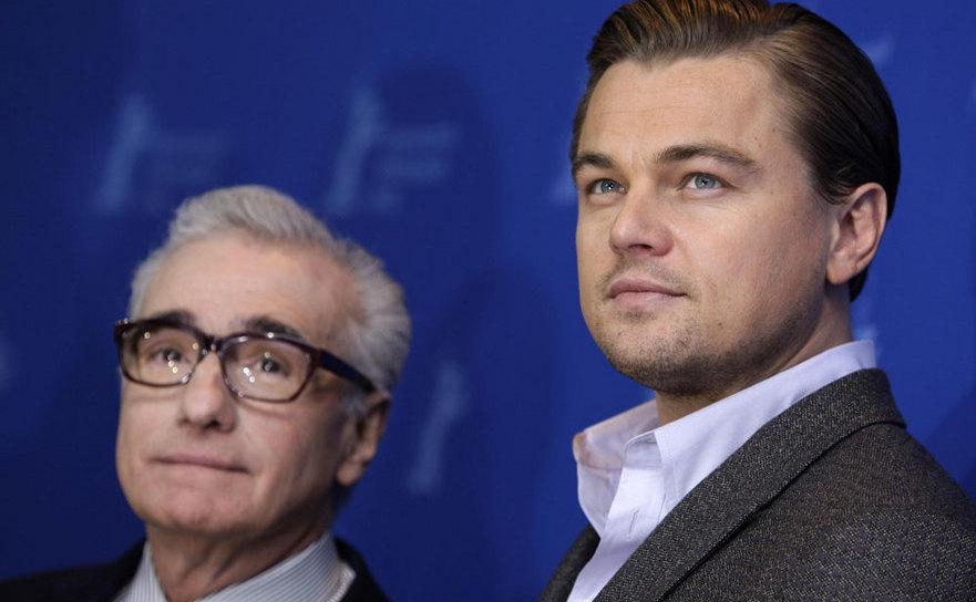 Regizorul Martin Scorsese şi actorul Leonardo diCaprio