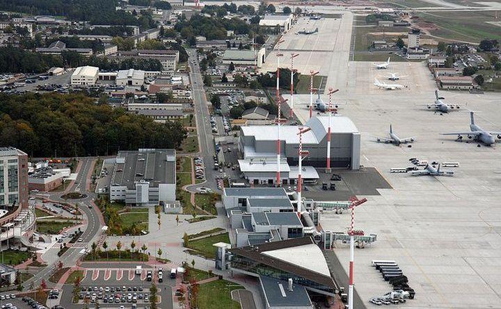 Baza aeriană de la Ramstein, Germania.