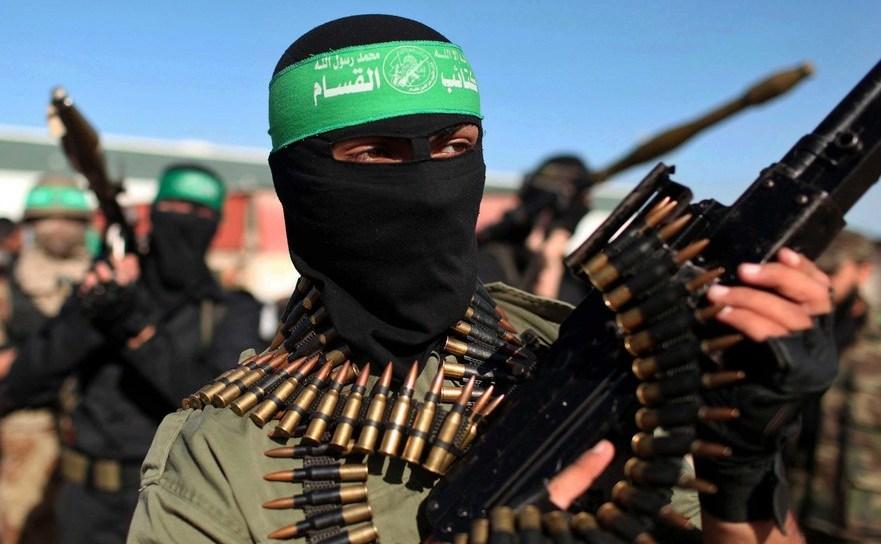Luptător al grupului palestinian Hamas.