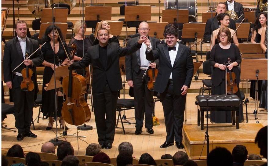 Violocelistul Răzvan Suma şi dirijorul Cristian Măcelaru, la RadiRo, 2016