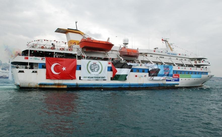 Nava umanitară Mavi Marmara din flotila atacată de comandourile israeliene în 31 mai 2010.