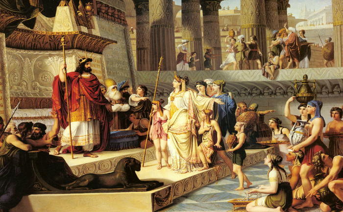 Regele Solomon o întâmpină regina din Saba