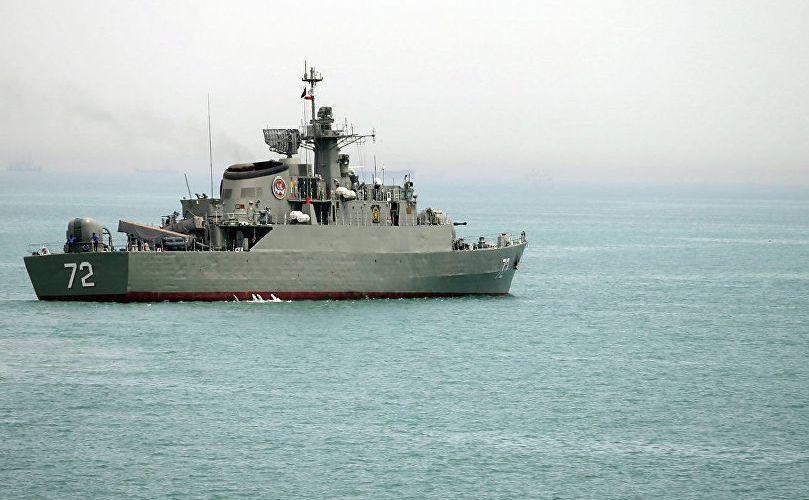 Navă de luptă iraniană.