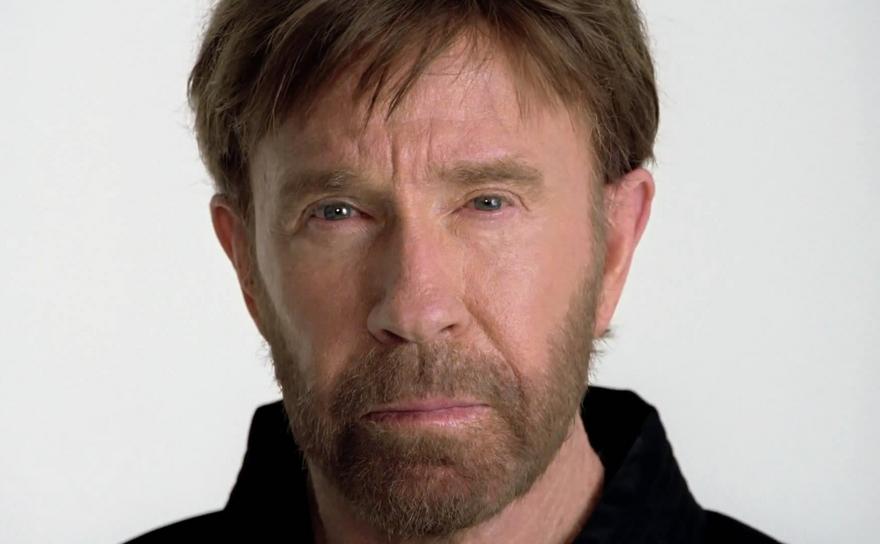 Actorul american Chuck Norris.