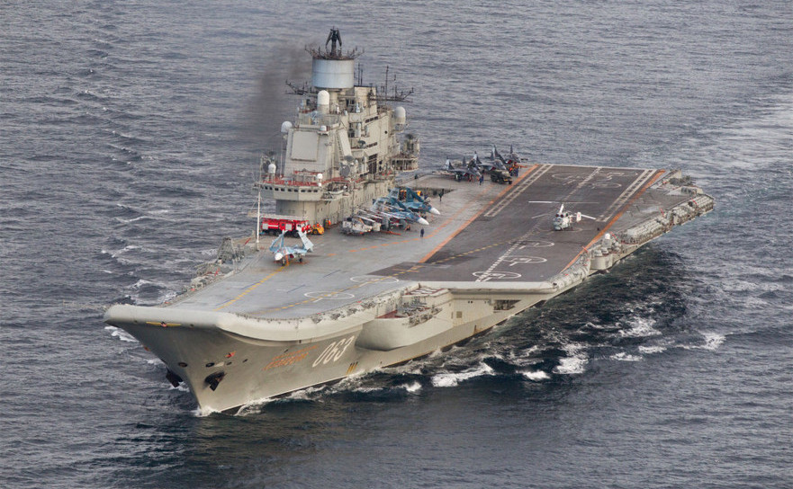Nava rusă Amiral Kuzneţov, adusă din nord, crează tensiuni politice în cadrul NATO