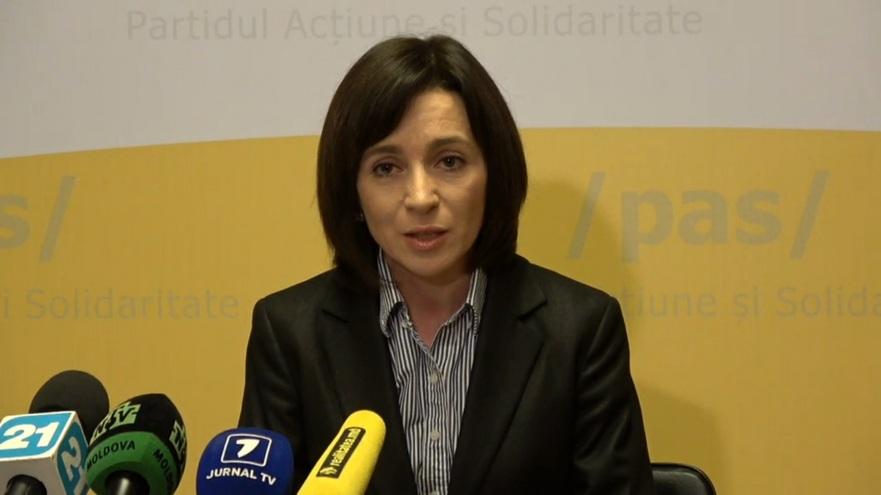 Maia Sandu, liderul Partidului Acţiune şi Solidaritate