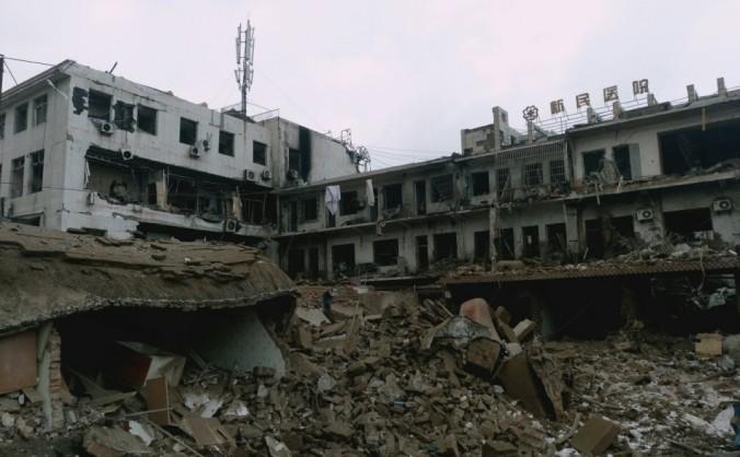 Spitalul Xinming după expliziile din 24 octombrie 2016.
