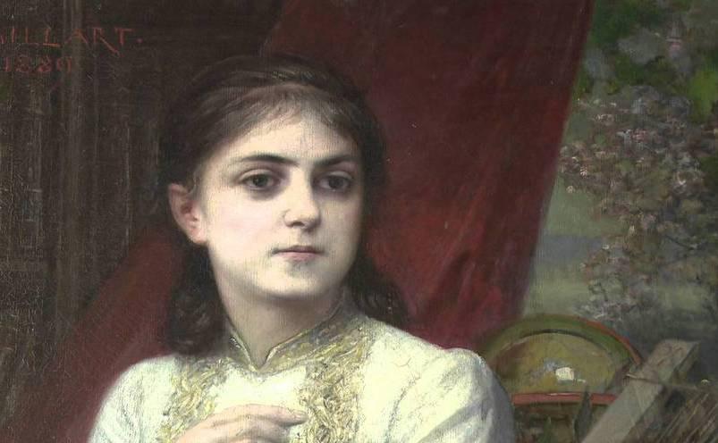 Portretul Iuliei Haşdeu realizat de pictorul Maillart