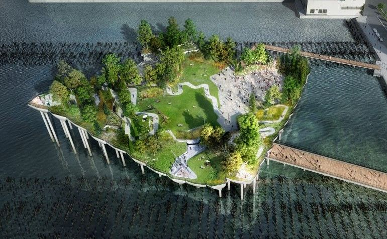 Pier55 - spectaculosul parc plutitor din New York