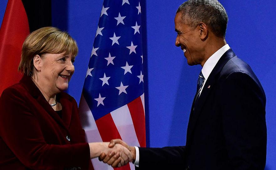Barack Obama împreună cu Angela Merkel, Berlin 17 noiembrie 2016