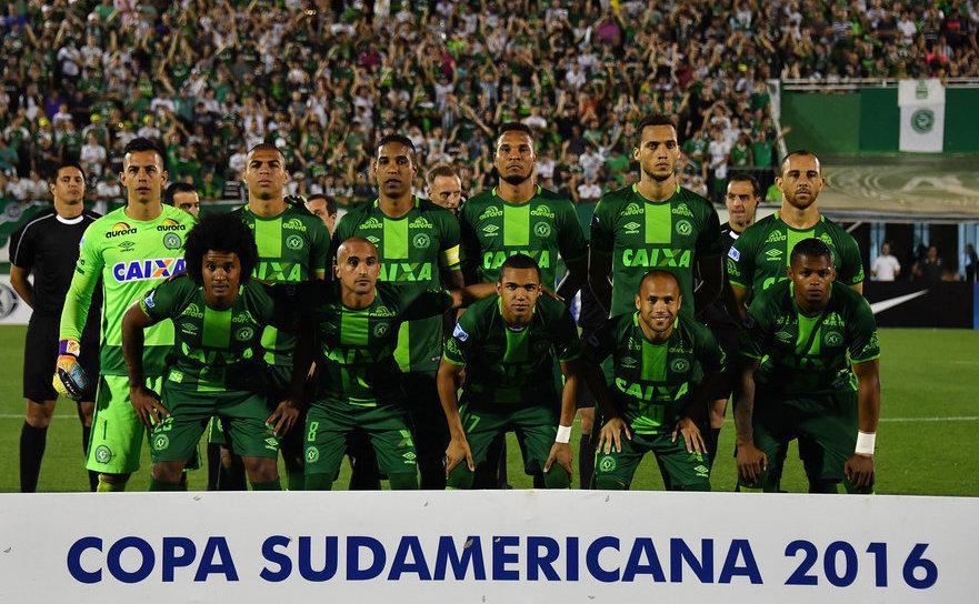 Echipa braziliană de fotbal Chapecoense.