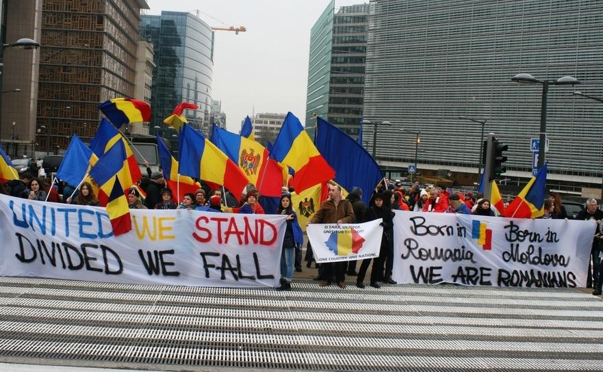 Miting al unioniştilor la Bruxelles
