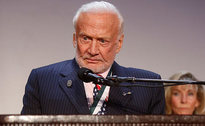 Buzz Aldrin, 12 septembrie 2016 în New York