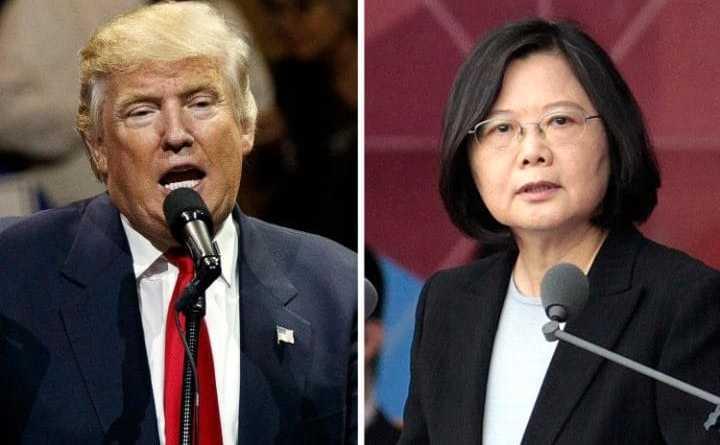 Preşedintele ales al SUA, Donald Trump (st) şi preşedinta Taiwanului, Tsai Ing-wen.
