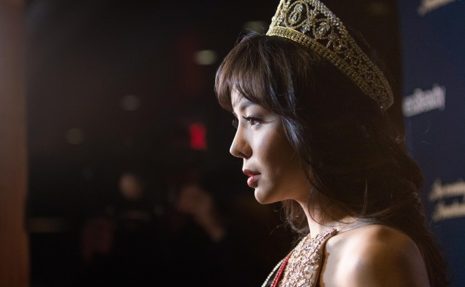 Miss World Canada Anastasia Lin la un eveniment dat în onoarea ei, la Spoke Club din Toronto, la 15 decembrie 2015