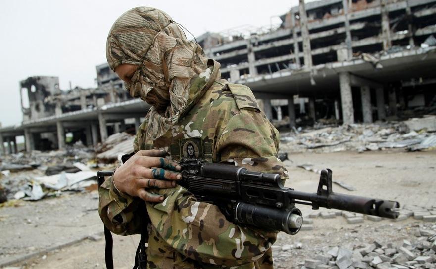 Rebel separatist pro-rus în Doneţk, estul Ucrainei.