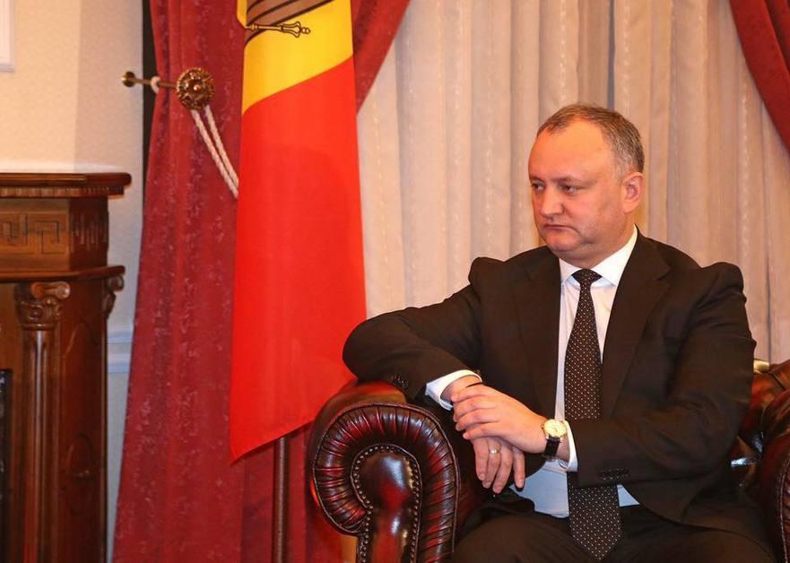 Preşedintele RM, Igor Dodon