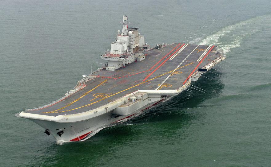 Portavionul chinez Liaoning.