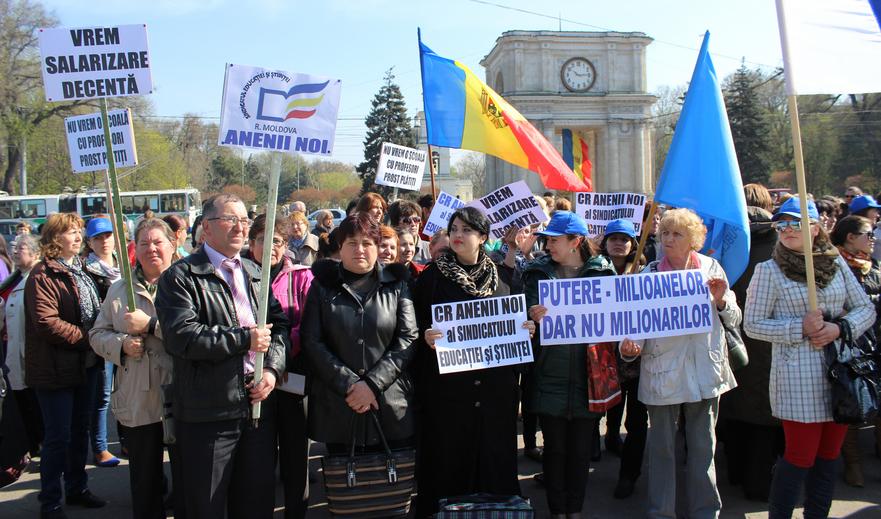 Protest al sindicaliştilor la Guvern