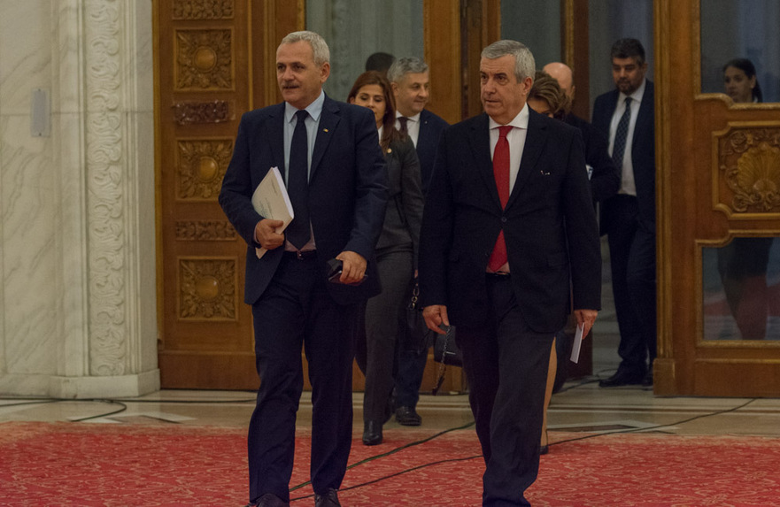 Dragnea si Tariceanu in Parlament