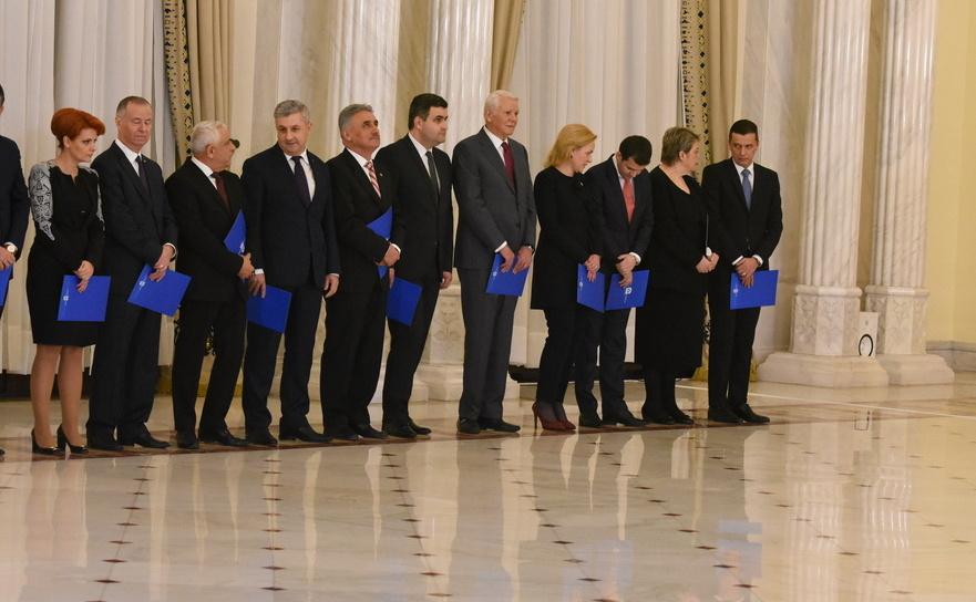Guvernul Grindeanu la Palatul Cotroceni