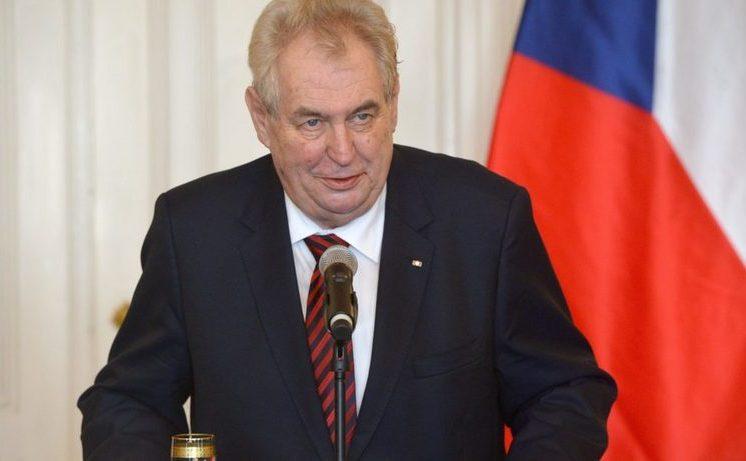 Preşedintele ceh Miloš Zeman