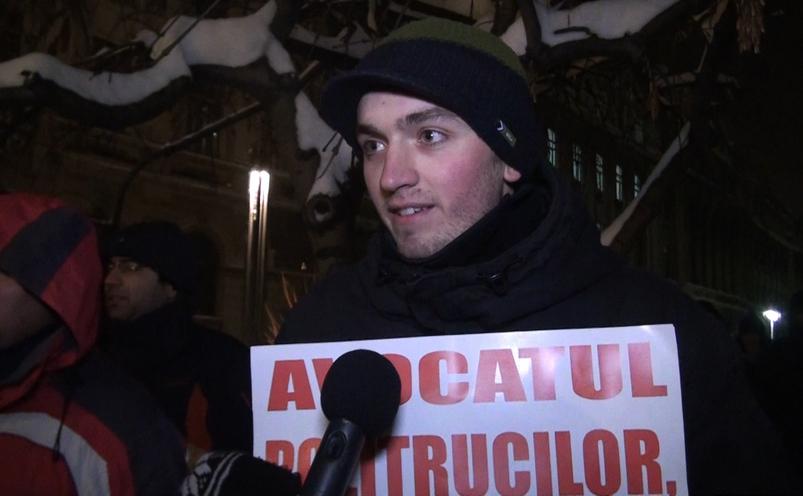 Protest pentru demiterea Avocatului Poporului, Piaţa Universităţii, 11 ianuarie 2017