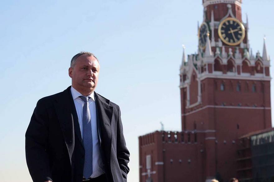 Igor Dodon în vizită la Moscova