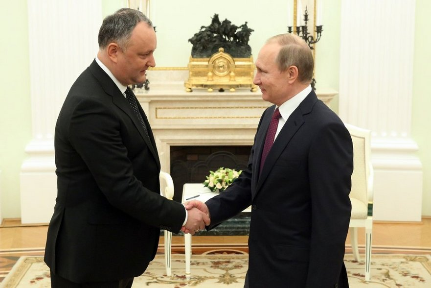 Igor Dodon şi Vladimir Putin