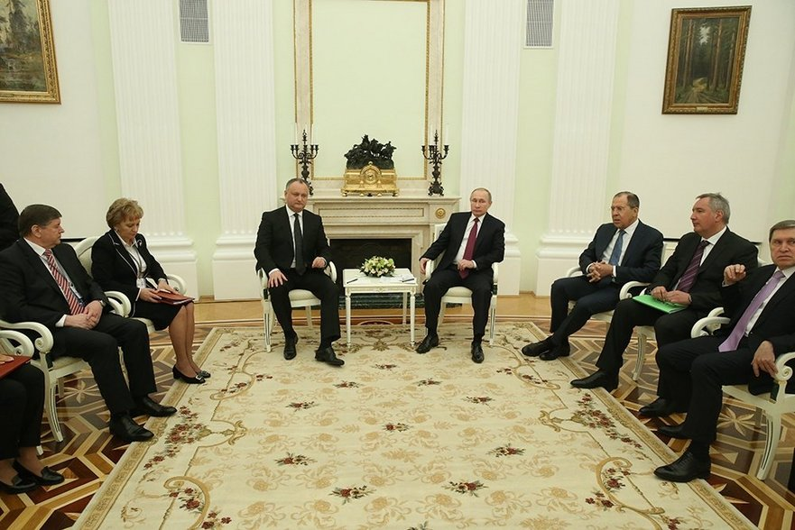 Delegaţia R. Moldova la Moscova în frunte cu Igor Dodon
