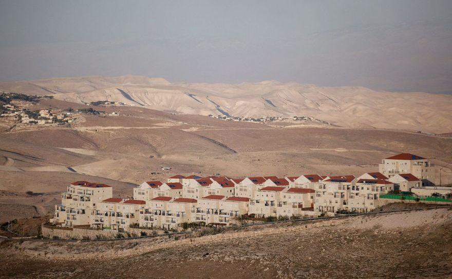 Colonie ilegală israeliană construită în Cisiordania.