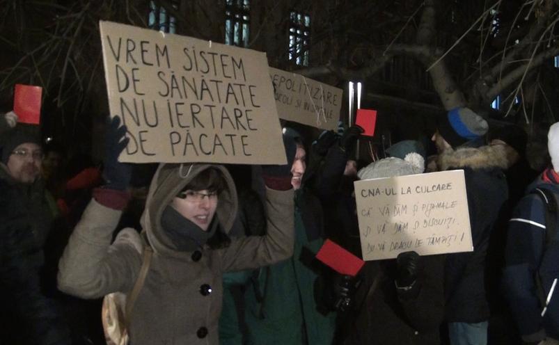 Protest anti-graţiere şi corupţie la Piaţa Universităţii