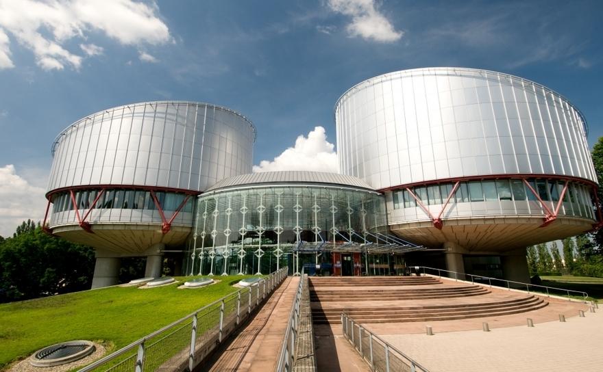 Sediul CEDO în Strasbourg, Franţa.