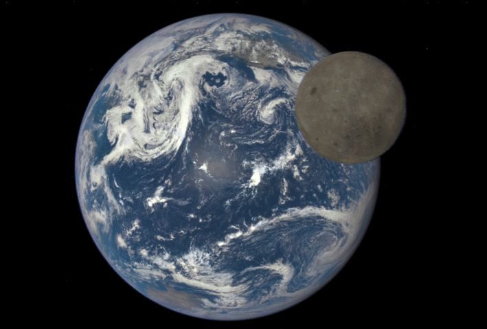 Imagine din satelit a satelitului natural al Pământului, Luna