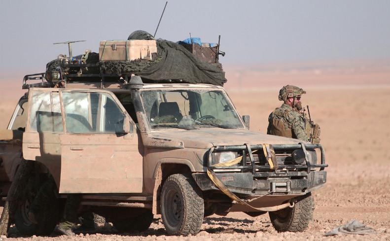 Soldaţi americani în apropiere de oraşul sirian Raqqa, 6 noiembrie 2016.