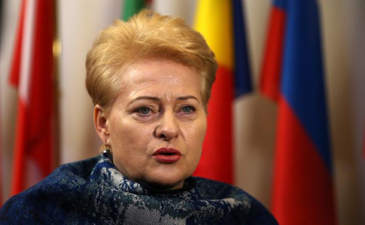 Preşedinta lituaniană Dalia Grybauskaite.