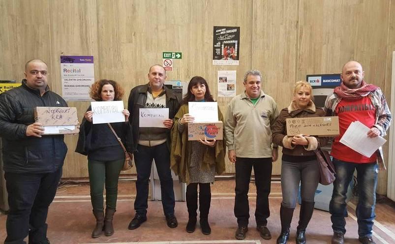 Protest la Radio România, 7 februarie 2017