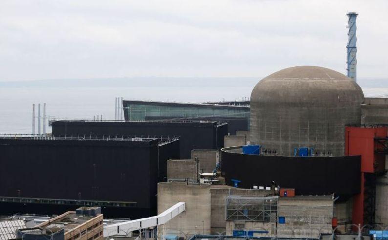 Reactorul nr. 1 al centralei nucleare franceze din Flamanville, după explozia care a avut loc în 9 februarie 2017 la această centrală.