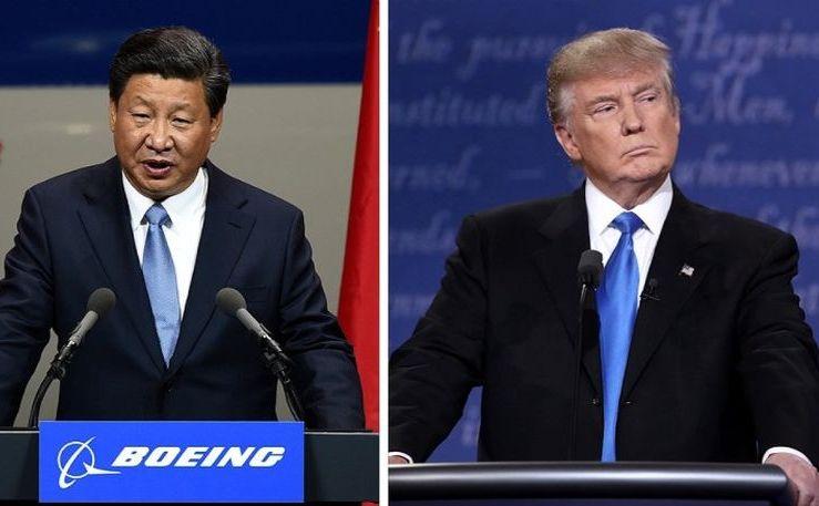 Preşedintele american Donald Trump (dr) şi omologul său chinez Xi Jinping.