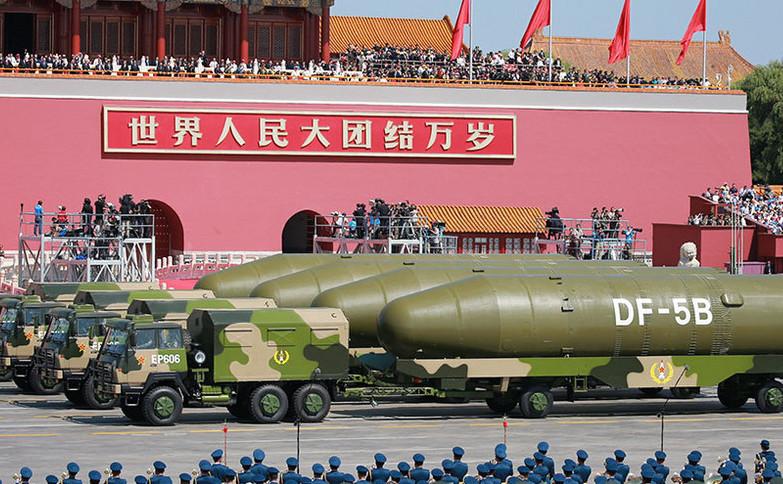 Armata chineză îşi prezintă unele rachetele sale DF-5B. În ianuarie 2017, Beijingul a testat o rachetă DF-5C cu 10 focoase nucleare.