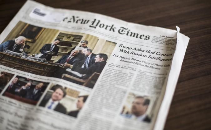 Ediţia din 15 februarie a publicaţiei The New York Times