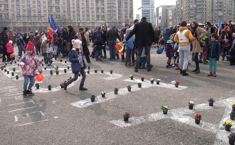 Protestul copiilor, 18 februarie 2017