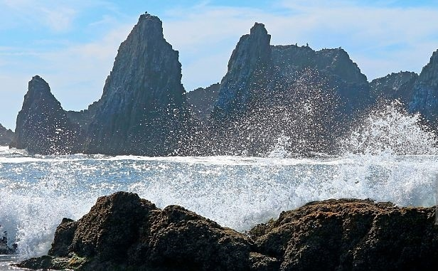 Oceanul Pacific, regiune de coasta in Oregon.