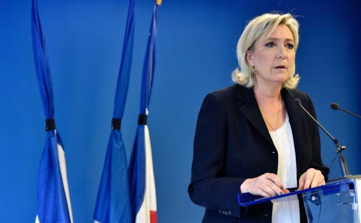 Marine Le Pen, lidera Frontului Naţional francez.